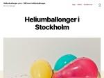 Heliumballonger Stockholm