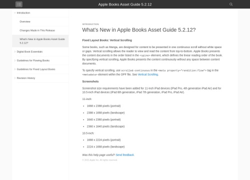 Apple - What's New in the iBooks Asset Guide 5.2 Revision 4?