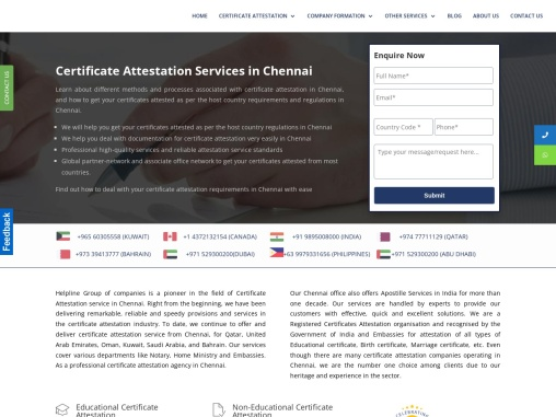Attestation Services in Chennai