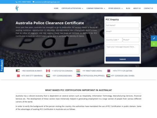 Australian PCC – helplinegroups.com