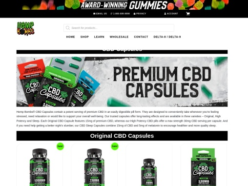 CBD Capsules Sold Online and Delivered