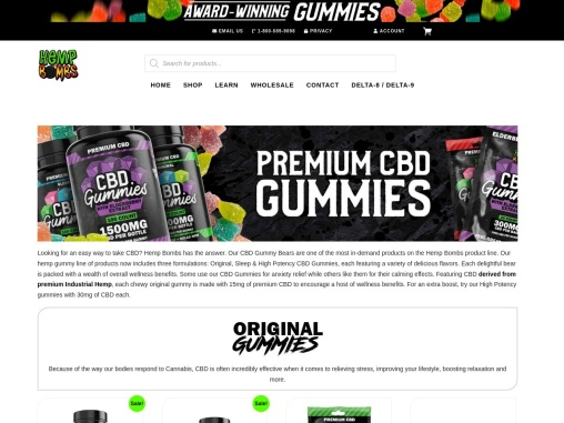 CBD Gummy Bears In A Variety of Flavors