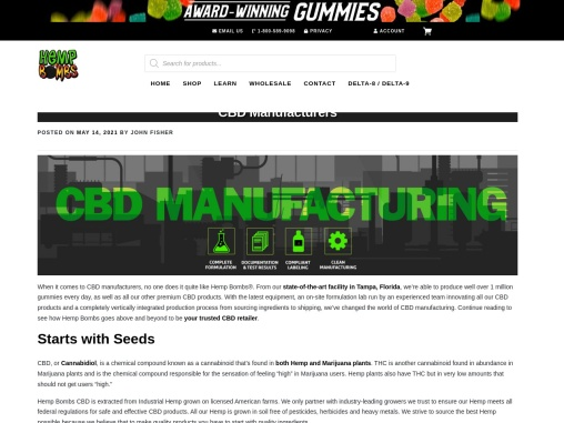 CBD Manufacturing for High Quality Products