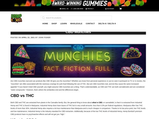 CBD Munchies and What The Facts Are