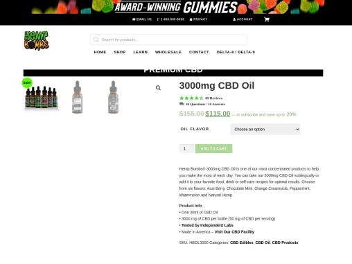 CBD Oil for Adults with Anxiety Sold Online