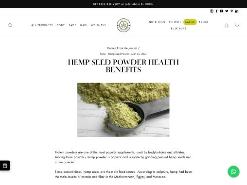 Benefits of Hemp Protein Powder   Hemp Works