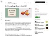You Can Get Burger Boxes at cheap rate in USA
