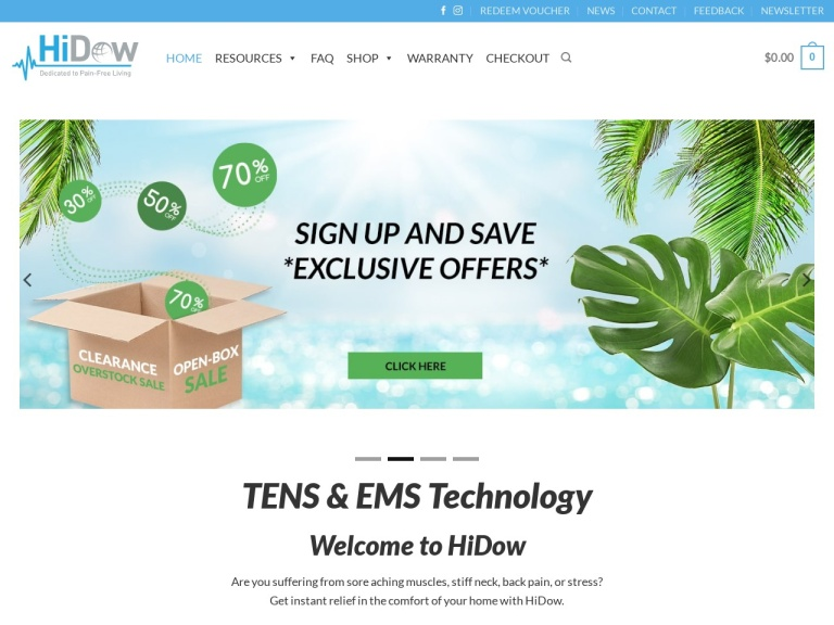 HiDow Coupon Codes