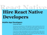 Hire Dedicated React Native Developers