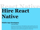 React Native App Development Services | Hire React Native App Developers