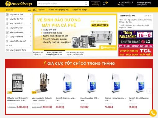 Hocagroup.com – Cung cấp máy pha cà phê và Nguyên Liệu Pha Chế cho Quán – Nhà Hàng – Khách Sạn