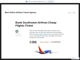 Book Southwest Airlines Cheap Flights Ticket