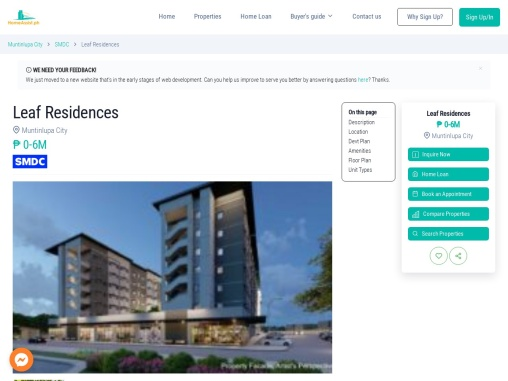 Leaf Residences Condo for Sale