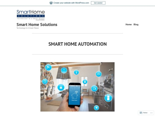 Smart home solutions for Smart homes
