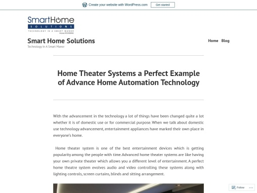 Home Theater Systems a Perfect Example of Advance Home Automation Technology