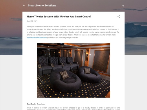 Home Theater Systems With Wireless And Smart Control