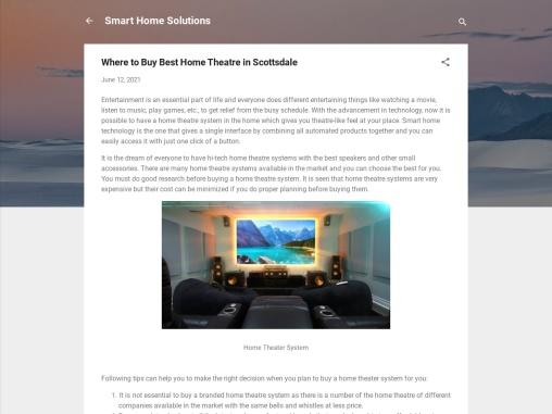 Buy Best Home Theatre in Scottsdale
