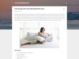 Home Design with These White Body Pillow Cover