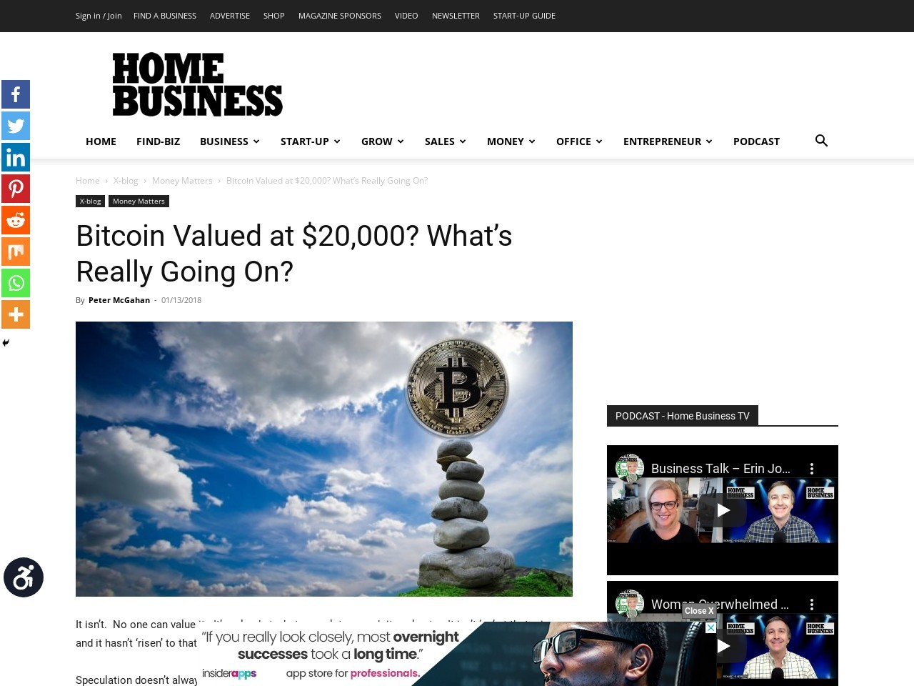 Bitcoin Valued at $20,000? What's Really Going On?