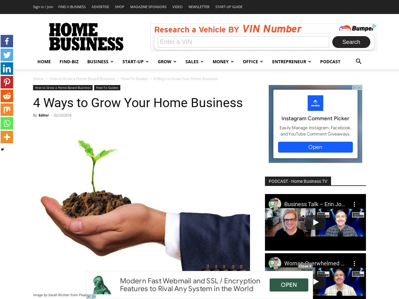 4 Ways to Grow Your Home Business
