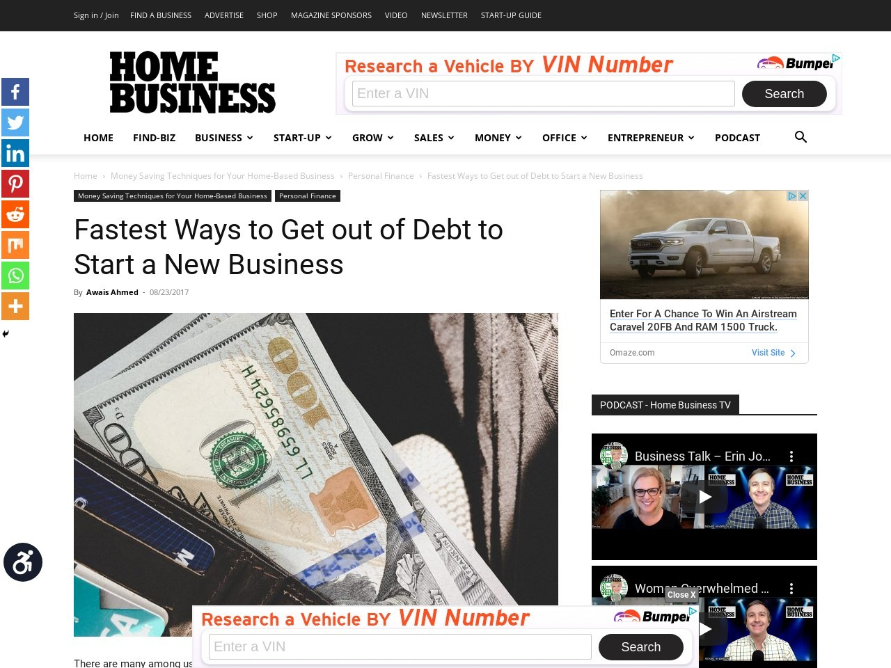 Fastest Ways to Get out of Debt to Start a New Business
