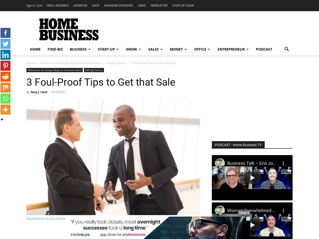 3 Foul-Proof Tips to Get that Sale