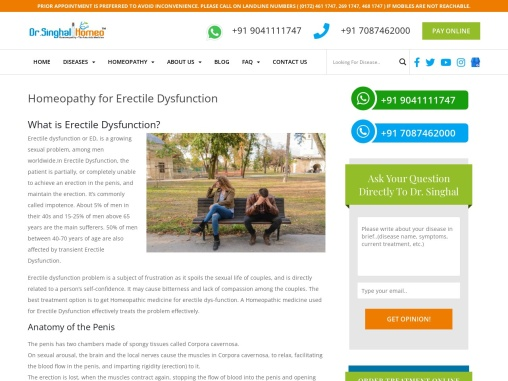Best Homeopathic Medicine for Impotence