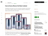 How to Drain a Rheem Hot Water Cylinder