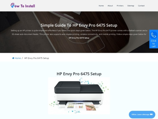 HP Envy Pro 6475 Setup | Driver Download And Install