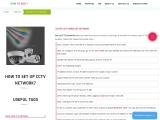 Simple Steps To Set Up CCTV Network | Complete Guide