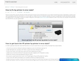 How to fix hp printer in error state? | HP Printer Assistant