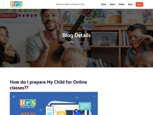 How do I prepare My Child for Online classes??