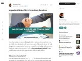 Important Role of Job Consultant Services