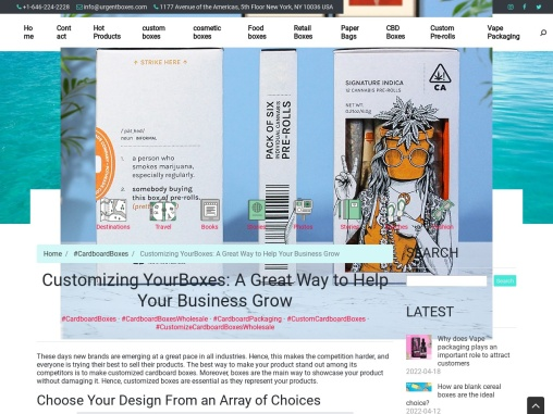 Customizing YourBoxes: A Great Way to Help Your Business Grow