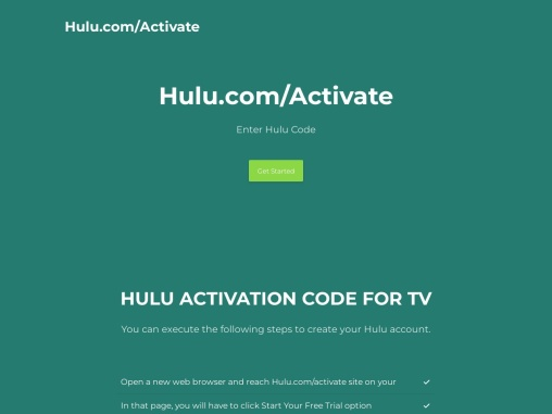How to get hulu activation code?