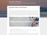 Human Resource Solutions – Steps and Procedures
