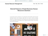 Desired Features of Small Business Human Resources Solutions