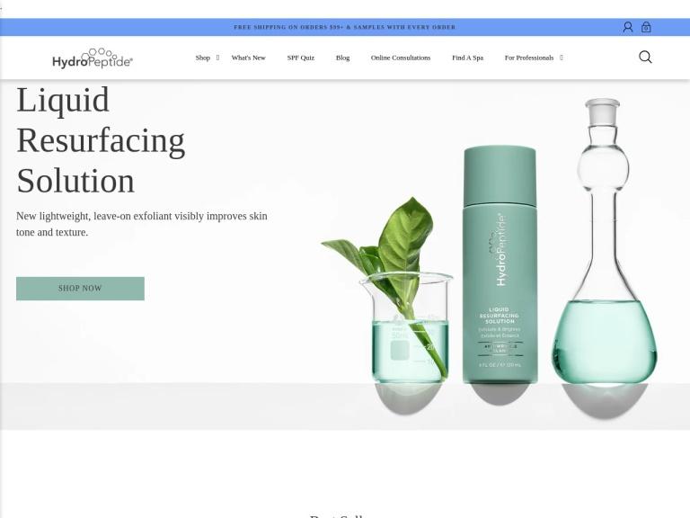 HydroPeptide screenshot