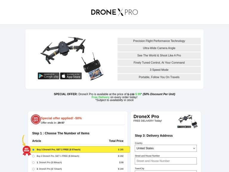 Drone X Pro screenshot