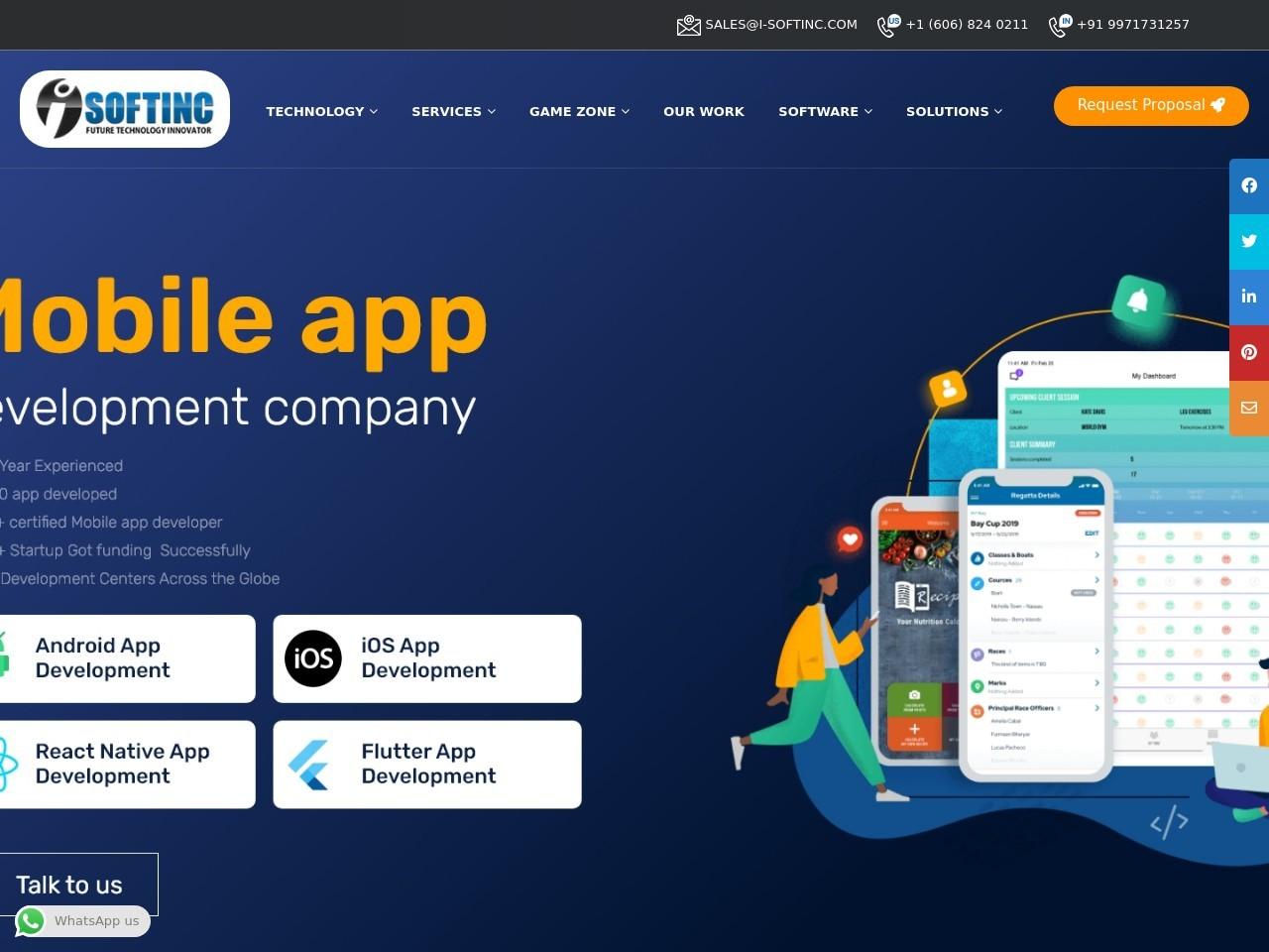 Android Development Services I-Softinc Noida
