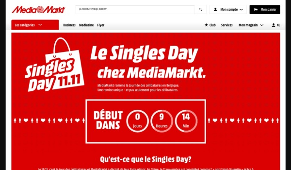 Screenshot van de promotiepagina