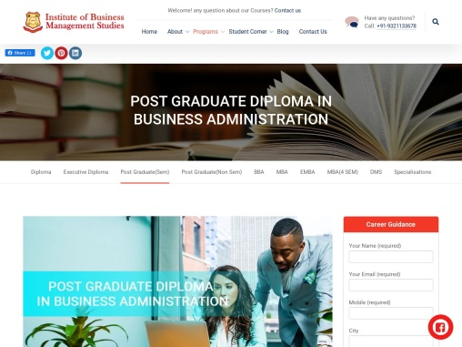 POST GRADUATE DIPLOMA IN BUSINESS ADMINISTRATION