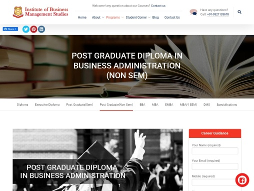 POST GRADUATE DIPLOMA IN BUSINESS ADMINISTRATION (NON SEM)