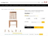 DINING TABLE CHAIR IN SHEESHAM WOOD