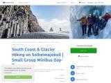 South Coast & Glacier Hiking on Solheimajokull