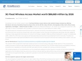 5G Fixed Wireless Access Market to witness the highest growth – A revenue impact analysis