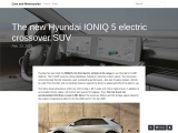 The new Hyundai IONIQ 5 fully electric crossover