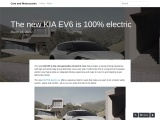 First images with the new Kia EV6 electric car