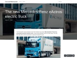 The new Mercedes-Benz eActros electric truck