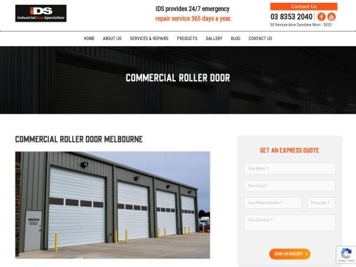 Commercial Roller Doors Melbourne – IDS Doors